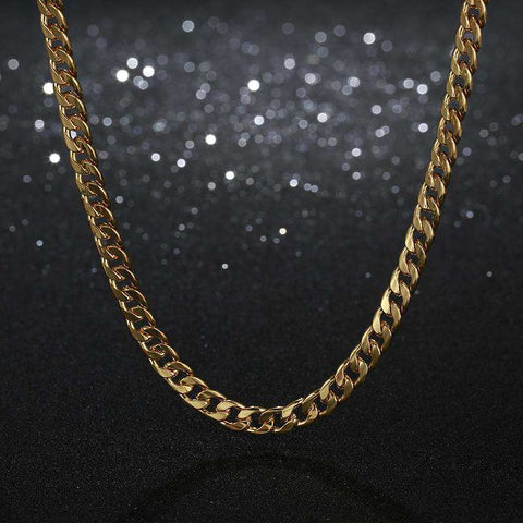 5mm 18K Gold PVD Plated Finish Cuban Link