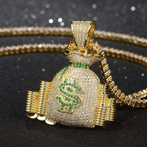 Money Bag Stack Pendant