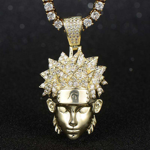 18K Yellow Gold Finish S925 Silver Naruto Pendant