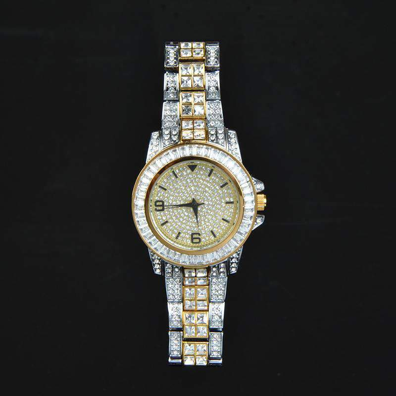 18K Two Tone Finish Iced Out Watch