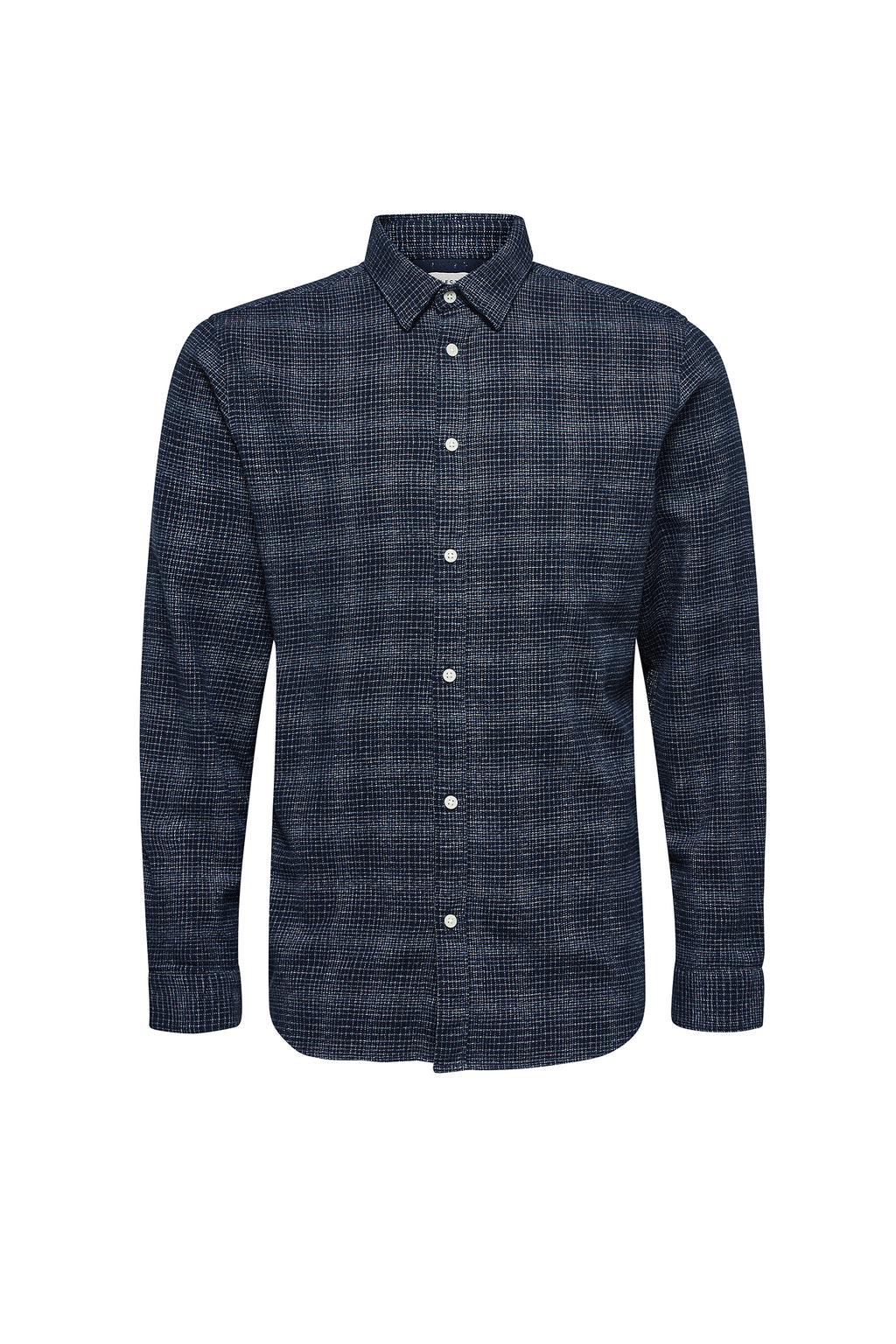 Andrew-Camp Shirt - Dark Blue White - Audace Copenhagen