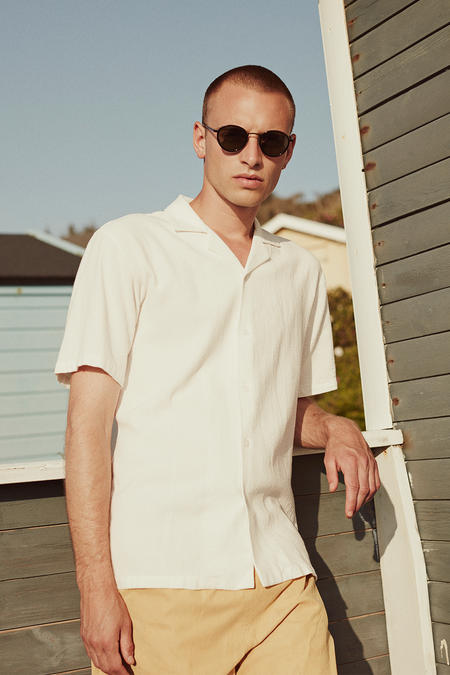 Clark Short Sleeve Shirt - Natural - Audace Copenhagen