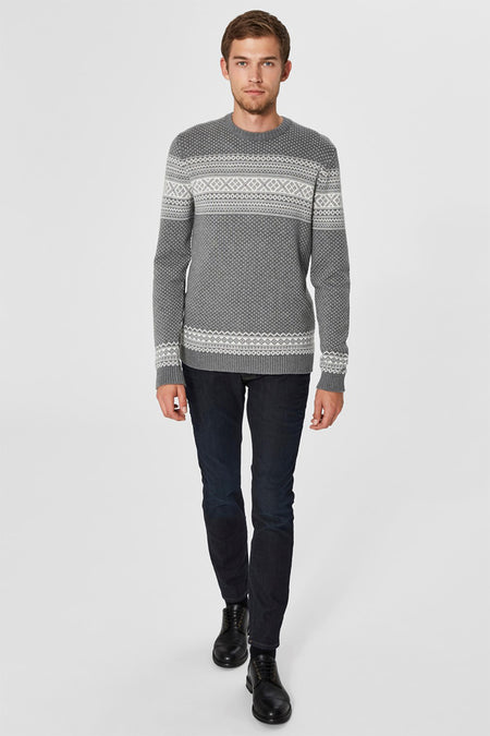 Flake Crewneck - Medium Grey - Audace Copenhagen