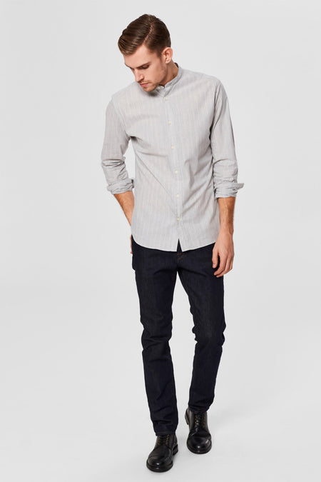 Gary - Slim fit - China Collar - Grey - Audace Copenhagen