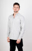 Flannel Shirt - Slim Fit - Melange Grey (Small, Large, X-Large) - Audace Copenhagen