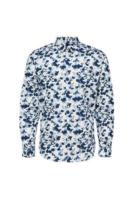 Josh Shirt - Dark Navy Multi Colors - Audace Copenhagen