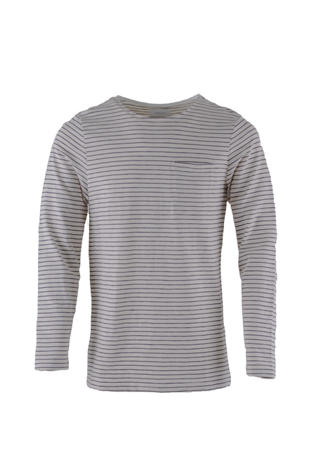 Maui Long Sleeved T-Shirt - Natural/Black Stripes - Audace Copenhagen