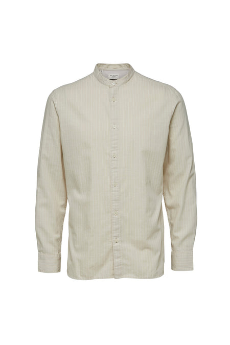 Oyster Gray Stripes - China Shirt - Audace Copenhagen