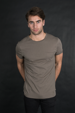 Philippe Pocket T-Shirt - Dust Green - Audace Copenhagen