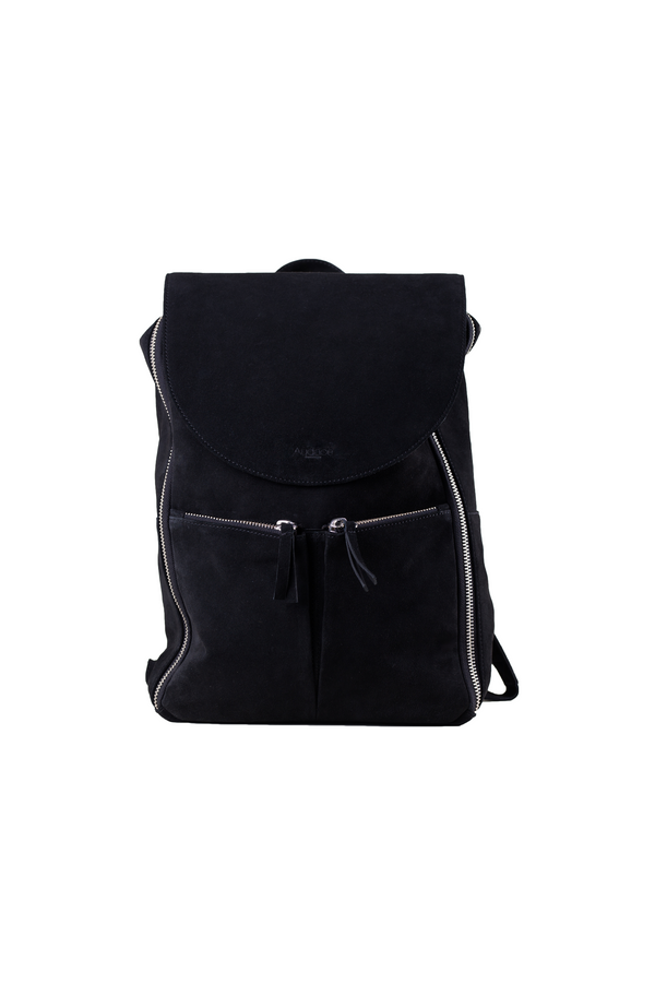 Savage Bag - Black Suede Leather - 15L