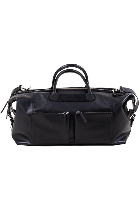 Wanderlust Travel Bag - Black Genuine Leather - Audace Copenhagen