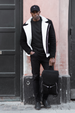 Malmö - Shearling - Suede Leather Jacket - Black - Audace Copenhagen
