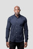 A Oxford Shirt - Slim Fit - Navy Blue (Small, X-Large) - Audace Copenhagen