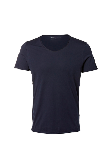 New Merce Tee - O-Neck - Dark Sapphire - Audace Copenhagen