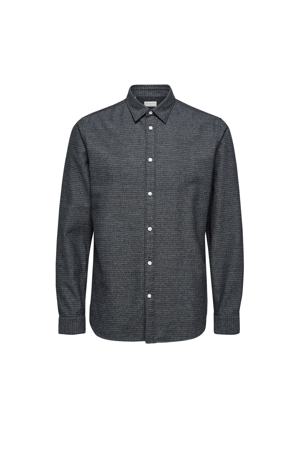 Andrew-Camp Shirt - Dark Grey Structure - Audace Copenhagen