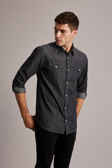 Nonened Shirt - Grey - Denim - Audace Copenhagen