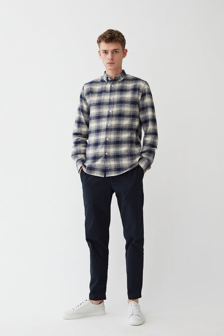Willimon Shirt - Flannel - White Check - Audace Copenhagen