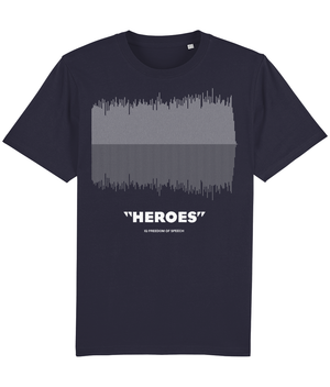 Heroes Mono Linear Soundwave T-Shirt