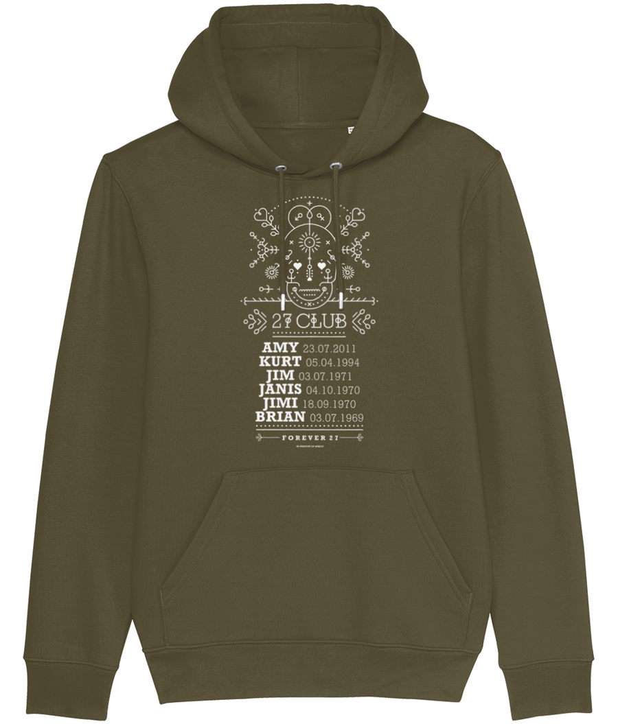 The 27 Club - Day of the Dead Line Art Skull - Men's Hoodie