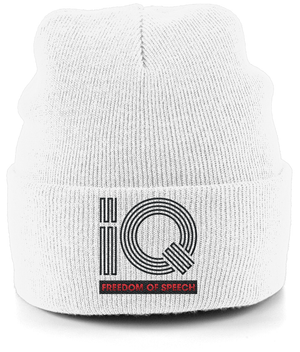 IQ Freedom Of Speech Cuffed Beanie - White