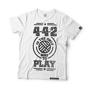 4-4-2 is the Only way to Play Black Label T-Shirt