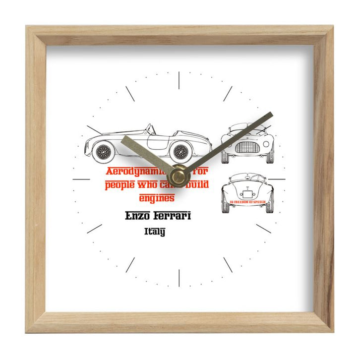 Enzo Ferrari - Square Mantle Clock