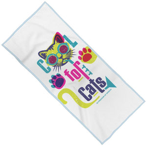 COOL FOR CATS DESIGN 3 MAXI BEACH TOWEL