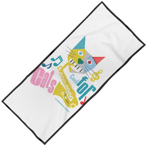 COOL FOR CATS DESIGN 1 MAXI BEACH TOWEL
