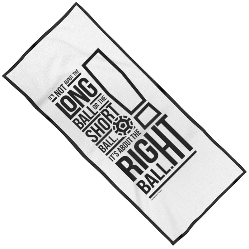 IT'S NOT ABOUT THE LONG BALL MAXI BEACH TOWEL