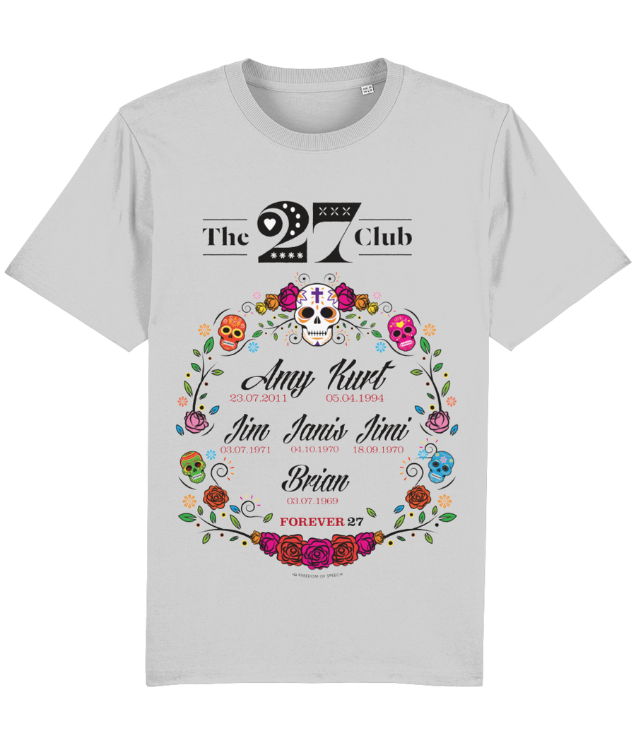 The 27 Club - Day of the Dead Circle of Flowers - T-Shirt