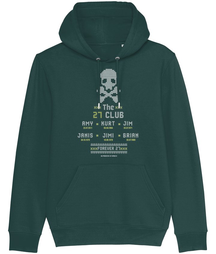 The 27 Club - SKull Cross Stitch - Men's Hoodie
