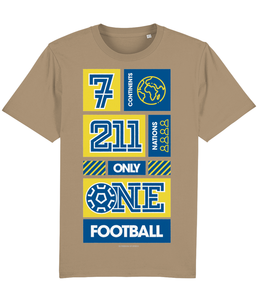 7 Continents, 211 Nations, only 1 Football T-Shirt