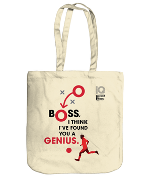 Boss I think I've found a Genius - George Best - Organic Cotton Tote Bag