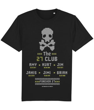 The 27 Club - SKull Cross Stitch - T-Shirt
