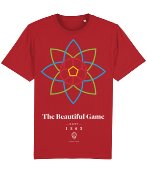 The Beautiful Game 100% Organic Cotton T-Shirt - Bright Red