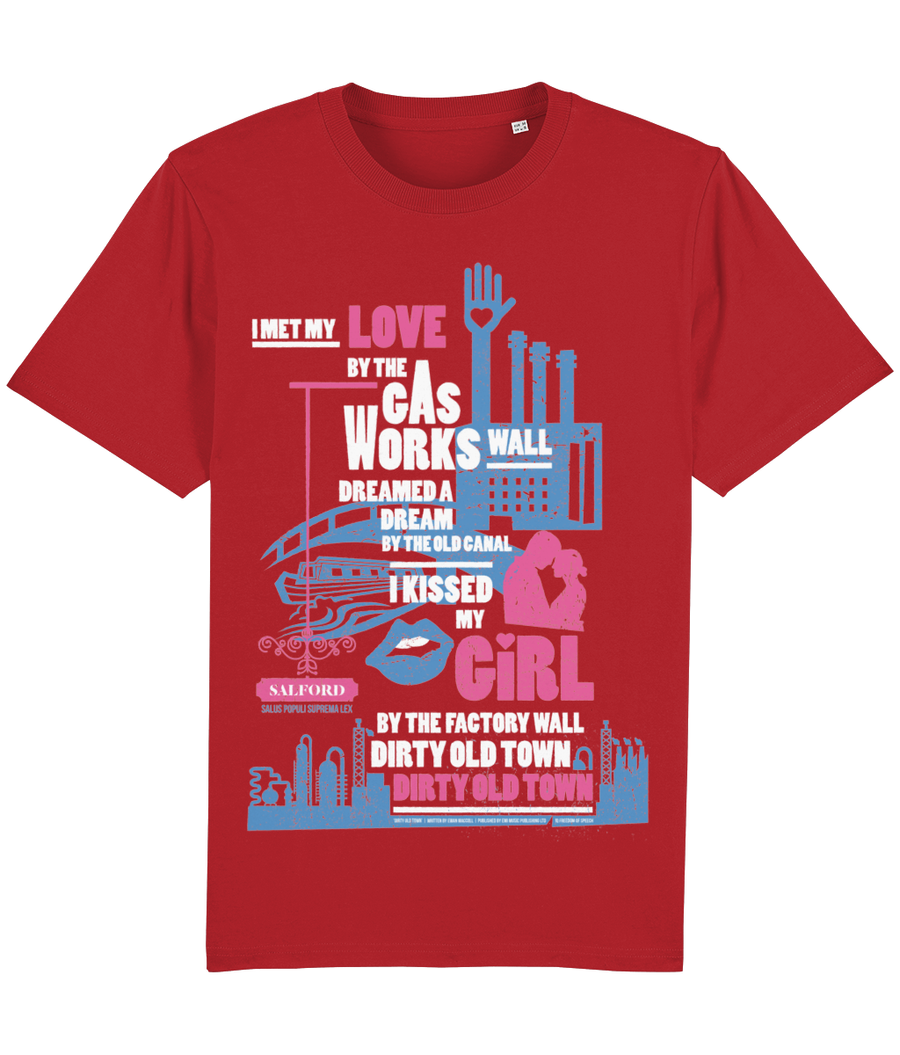 Dirty Old Town 100% Organic Cotton T-Shirt - Officially Licensed
