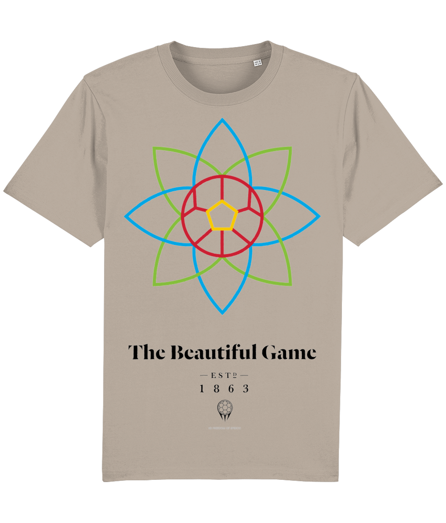 The Beautiful Game 100% Organic Cotton T-Shirt - Desert Dust