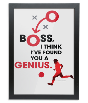 Boss I Think I've Found you a Genius Framed A3 Print - George Best