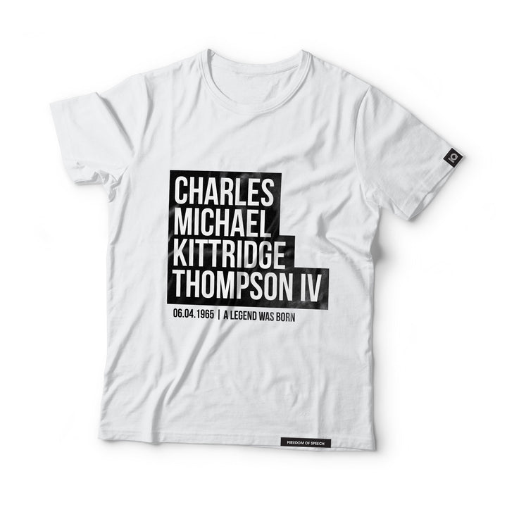 Charles Michael Kittridge Thompson IV - Black Label T-Shirt
