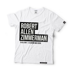 Robert Allen Zimmerman - aka Bob Dylan - Black Label T-Shirt