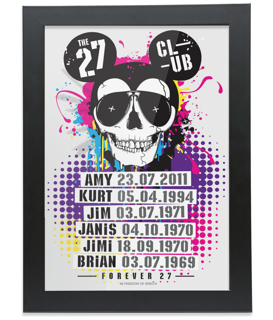 The 27 Club - Mouse Skull - Framed A4 Print