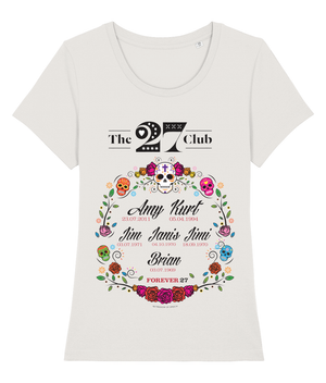 THE 27 CLUB - CIRCLE OF FLOWERS -WOMEN'S T-SHIRT