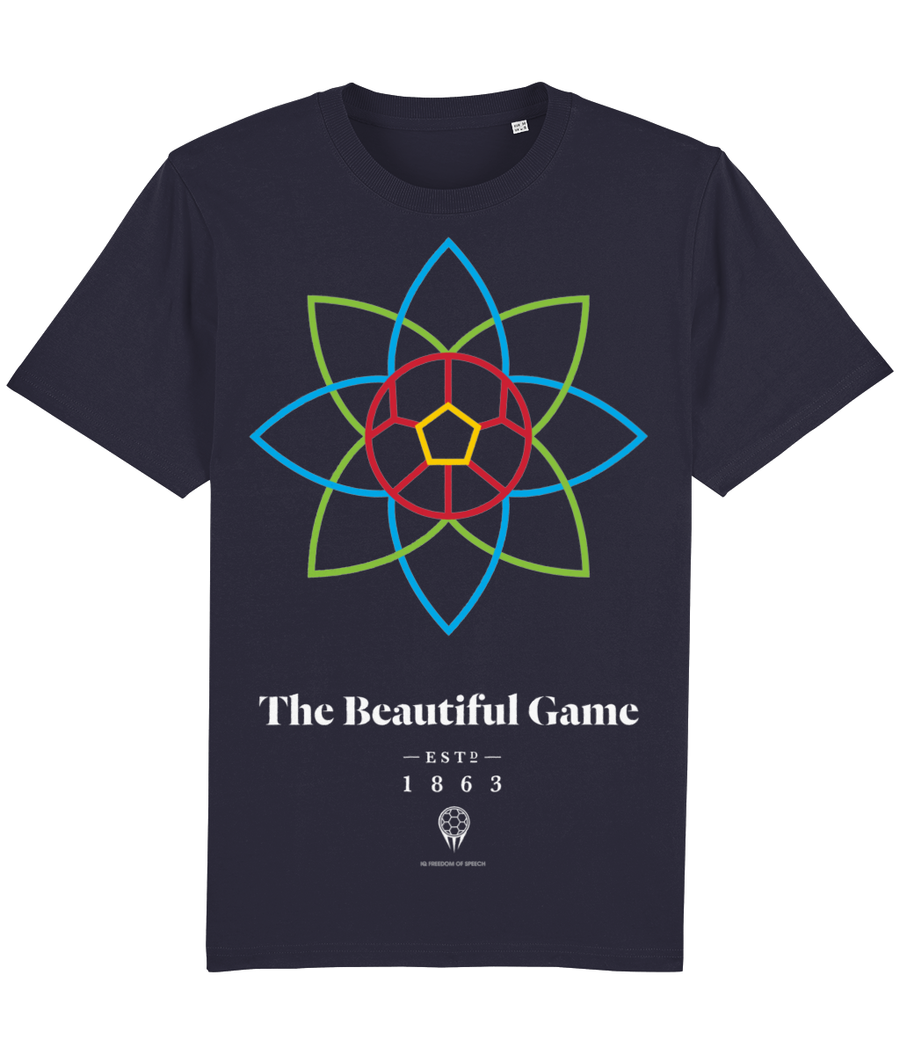 The Beautiful Game 100% Organic Cotton T-Shirt - French Navy