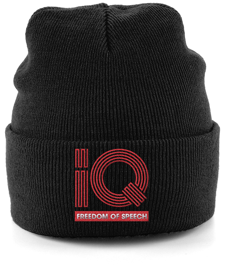 IQ Freedom Of Speech Cuffed Beanie - Black