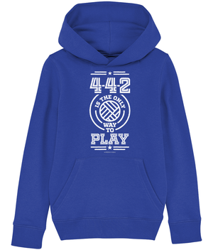 4-4-2 is the Only way to Play Kids Hoodie