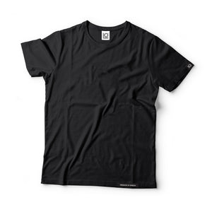 IQ Freedom Of Speech - Plain Black 100% Supima Cotton T-Shirt