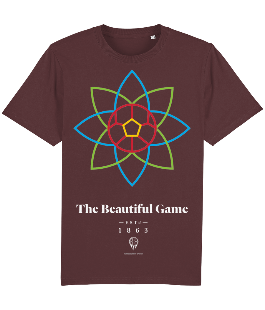 The Beautiful Game 100% Organic Cotton T-Shirt - Burgundy