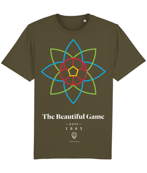 The Beautiful Game 100% Organic Cotton T-Shirt - British Khaki