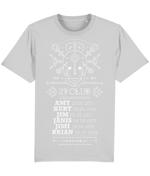 The 27 Club - Day of the Dead Line Art Skull - T-Shirt