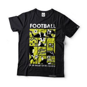 Football is the Ballet of the Masses - Dmitri Shostakovich - Black Label T-Shirt